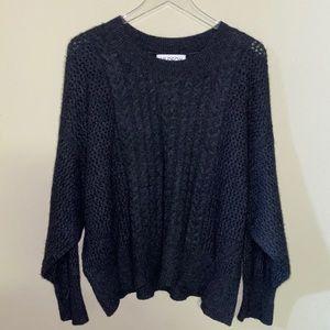WILDFOX 100% Cashmere Oversized Black Sweater S